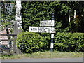 SJ5354 : Guidepost at the crossroads in Bulkeley. by Stephen Charles