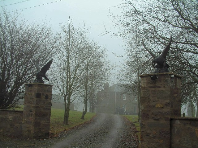 Golden eagles guard the gate