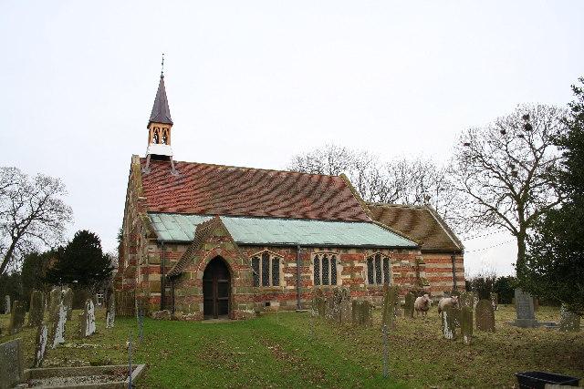 St.Oswald's church, Strubby, Lincs.