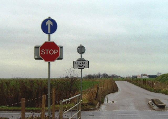 Private road near Barling Magna