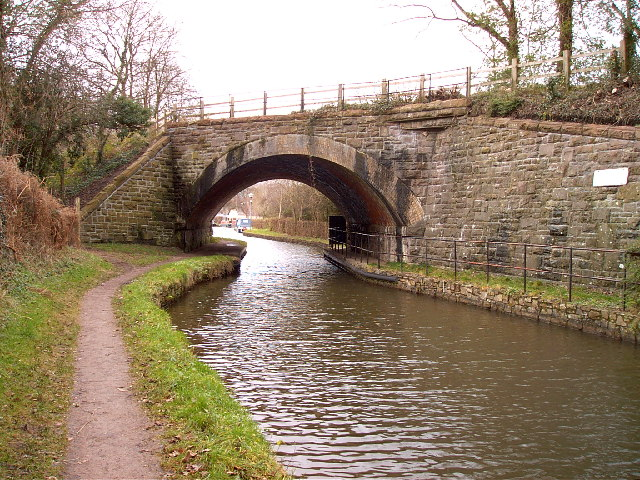 Skew railway bridge over  Monmouth and Brecon canal