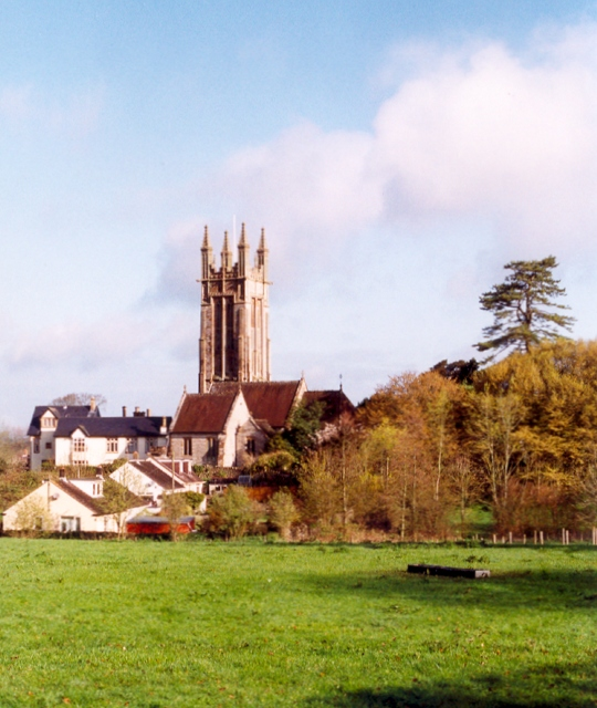 Parish church at Cattistock