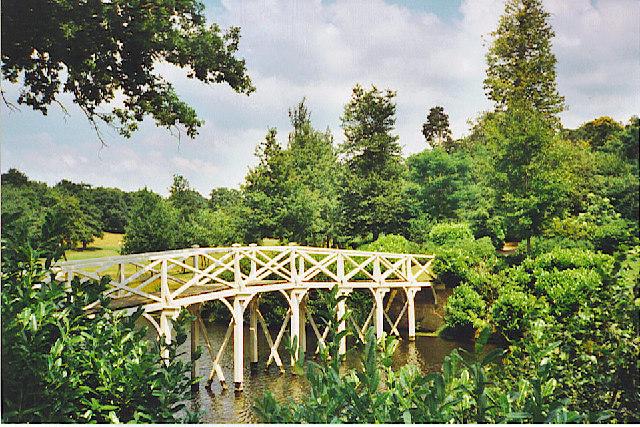 Painshill Park Lake, the Bridge.