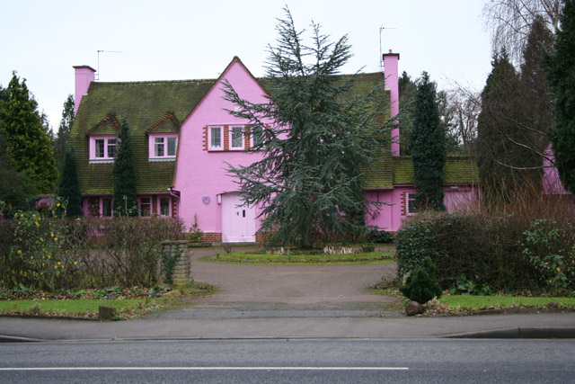 A very pink house!