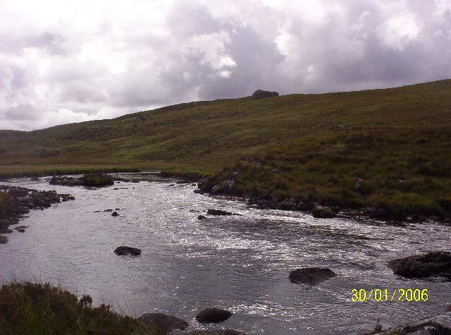 Little Gruinard River halfway to Loch Fionn