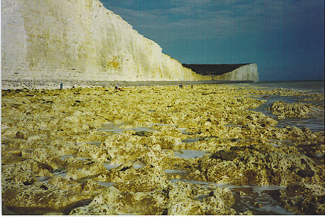 The Seven Sisters foreshore at Low Tide
