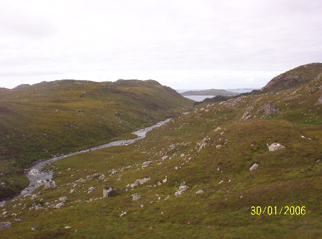 Little Gruinard River looking towards Gruinard Island
