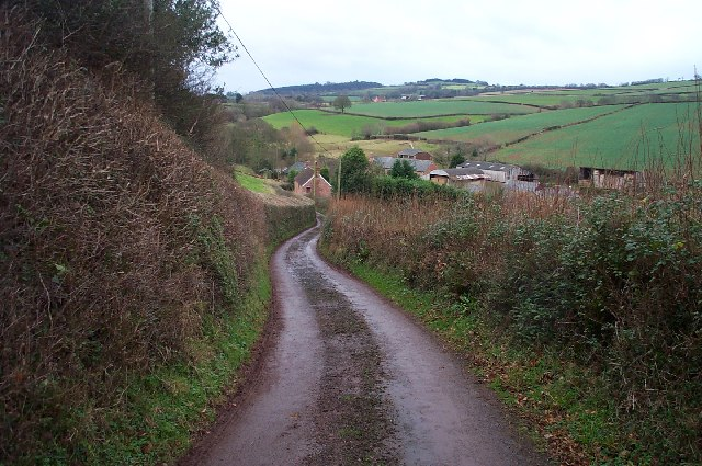 Lane from Stogumber to Wood Farm.