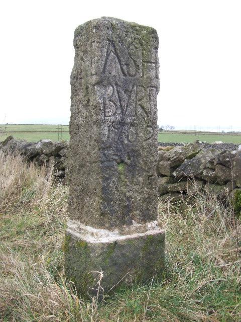 Stone marker.