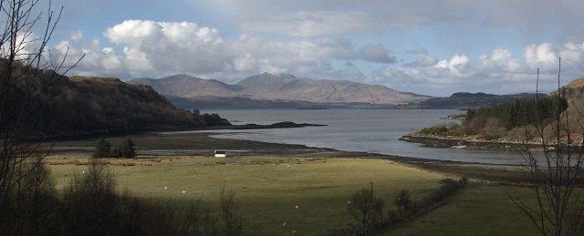 View from Loch Feochan towards Dun da Ghaoithe
