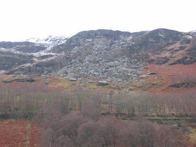 Landslide, Glen Ogle.