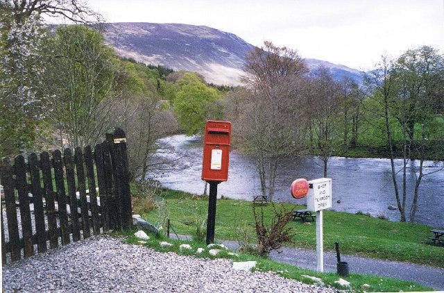 Post Box at Bridge of Balgie
