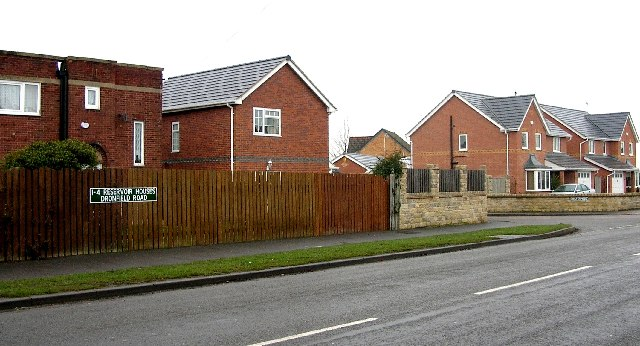 Eckington - Reservoir Houses on Dronfield Road.