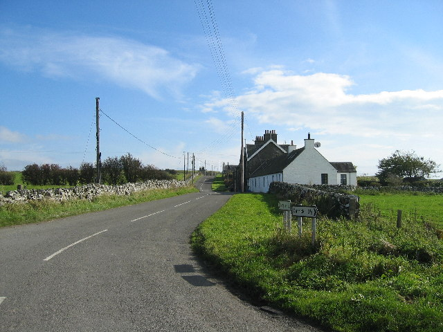 Looking towards Chapelton Row from Ivy Cottage