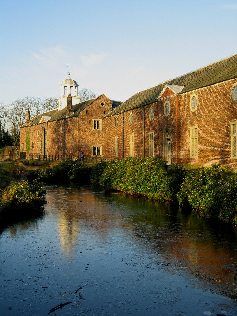 Rear of Dunham Massey Hall in the winter