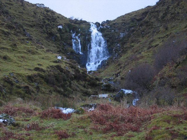 Waterfall above Loch Fada