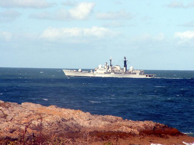 HMS Edinburgh on patrol