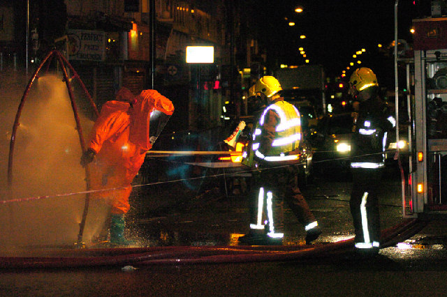 Decontamination after incident at Archway