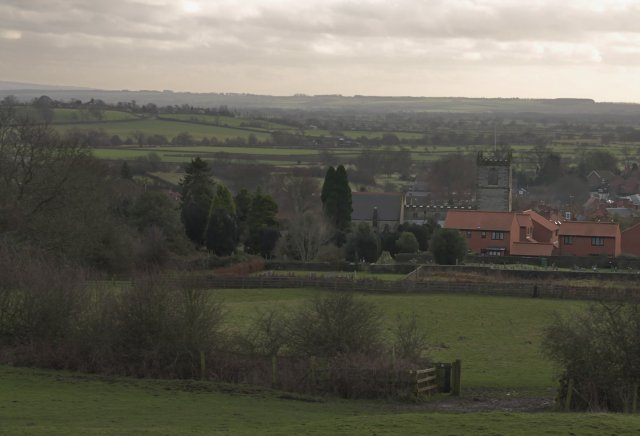 View over the church at Kirkbymoorside