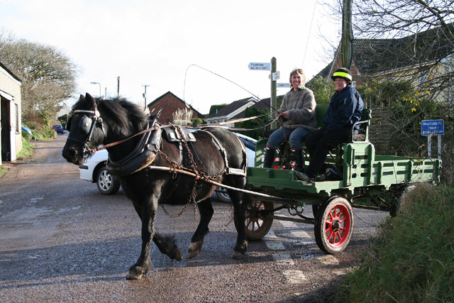 Cruwys Morchard: horse and cart at Pennymoor