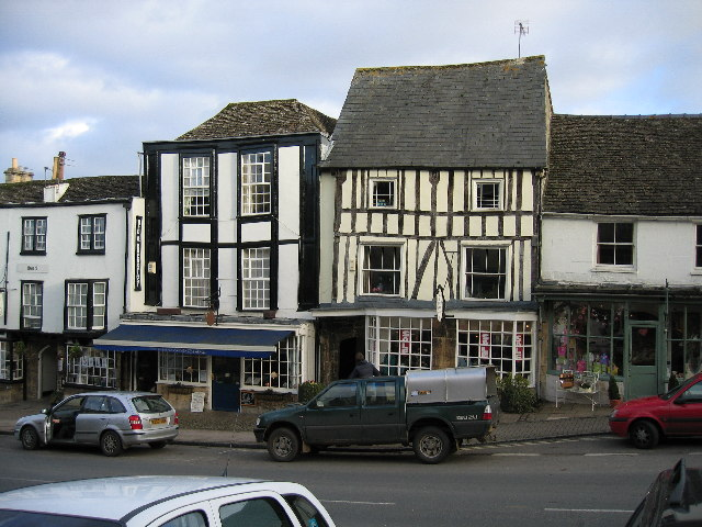 Old houses on Burford High Street