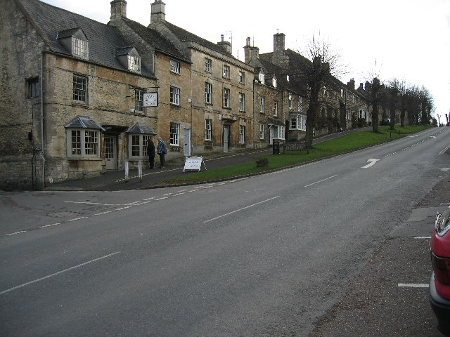 View up Burford High Street looking south
