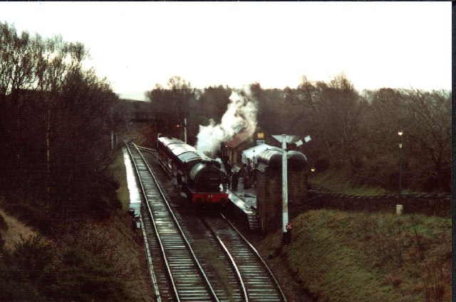 Tanfield Steam Railway on Boxing Day 2005 - Respect!