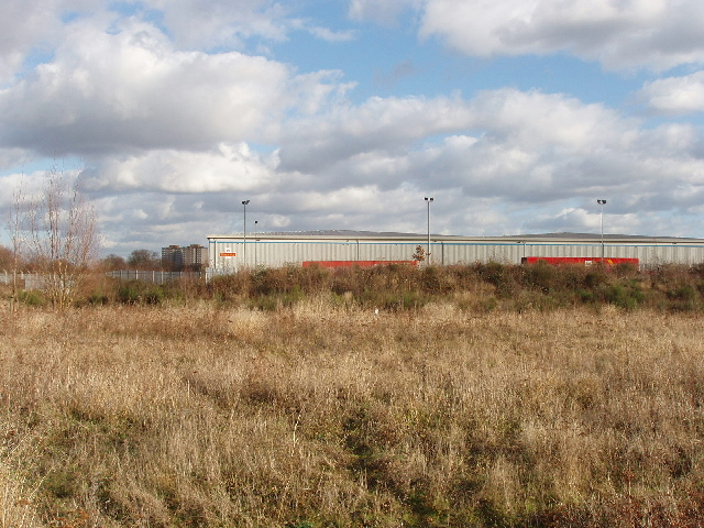 Royal Mail depot by Hounslow Heath