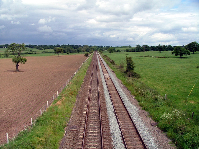 Railway line near to Beeston Castle