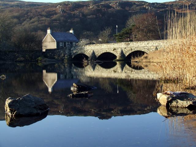 Bridge at Lower End of Padarn Lake