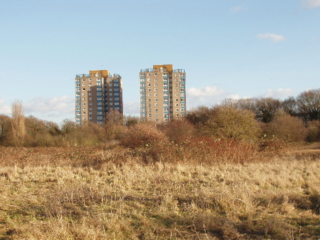 Flats by Hounslow Heath