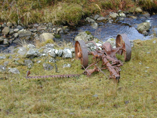 Abandoned mowing machine near Loggie