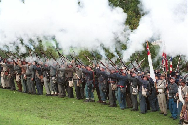 Civil War reenactment at American Museum, Bath