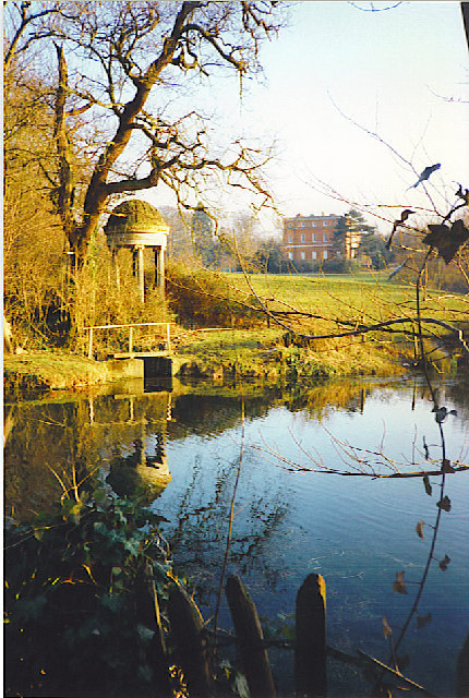 Ornamental temple and pond, Clandon Park