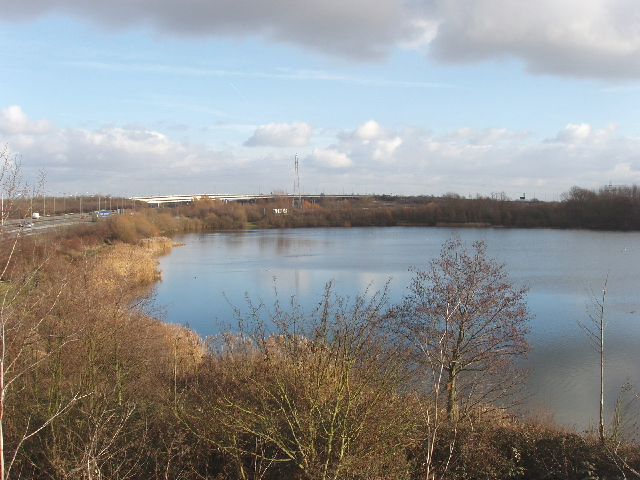 Gravel pit at Colnbrook