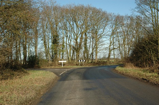 Road junction near the Cattons