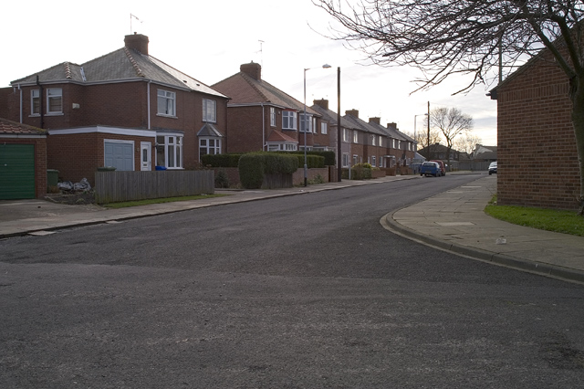 Housing estate, Newsham nr Blyth