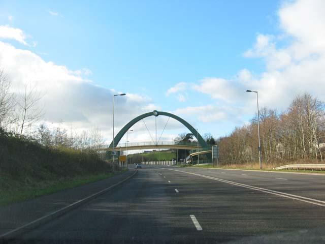 Coedkernew Footbridge