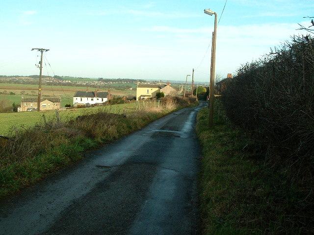 Tyburn Lane towards Emley