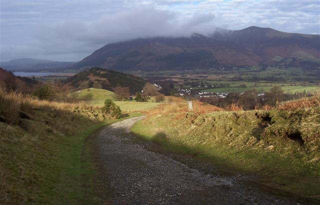 The track from High Coledale.