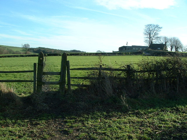 Footpath across fields near Flockton