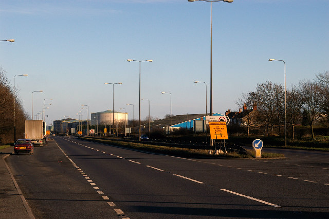 A160 at South Killingholme