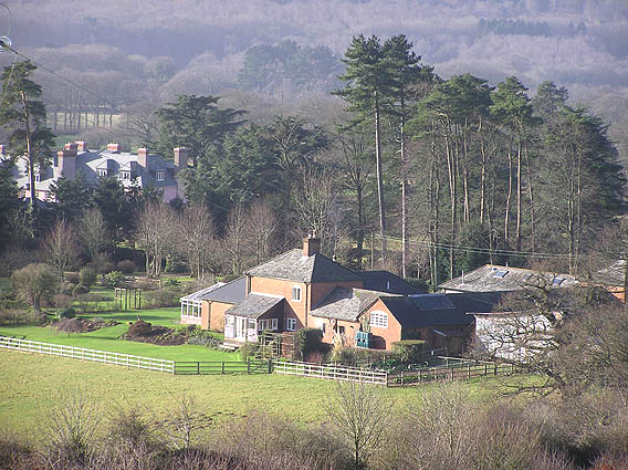 Stable Cottage with Triscombe House beyond