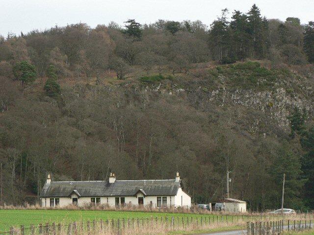 Cottages below Glencarse Hill