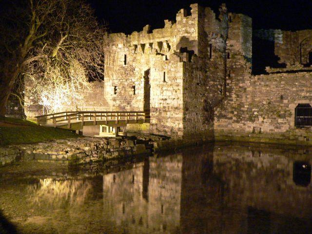 Beaumaris Castle at Night