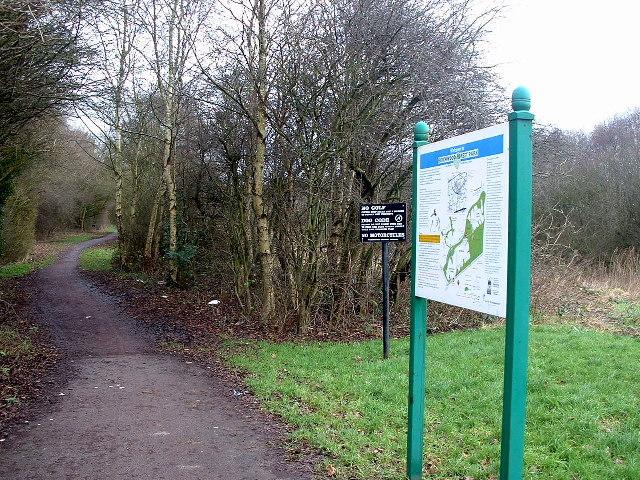 Footpath near Birchwood Station