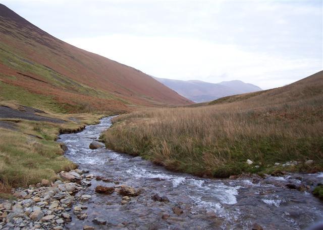 Coledale beck running towards Braithwaite.