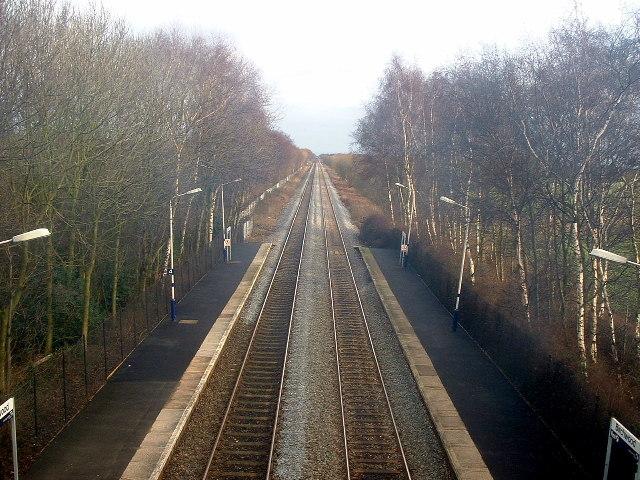 Railway Track, Birchwood Railway Station