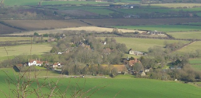 Alciston from Bostal Hill