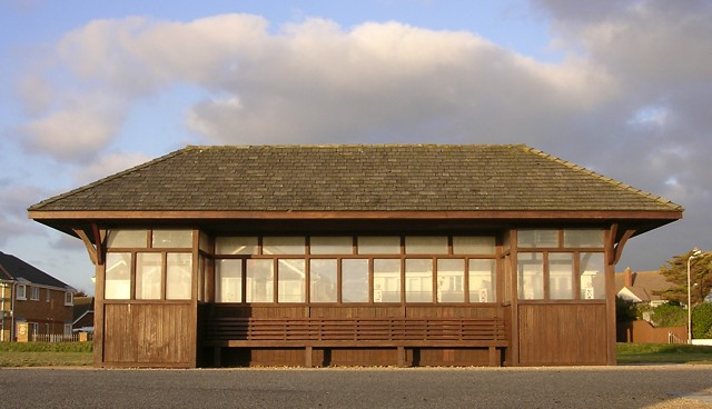 Shelter on the sea front, Milford-on-Sea